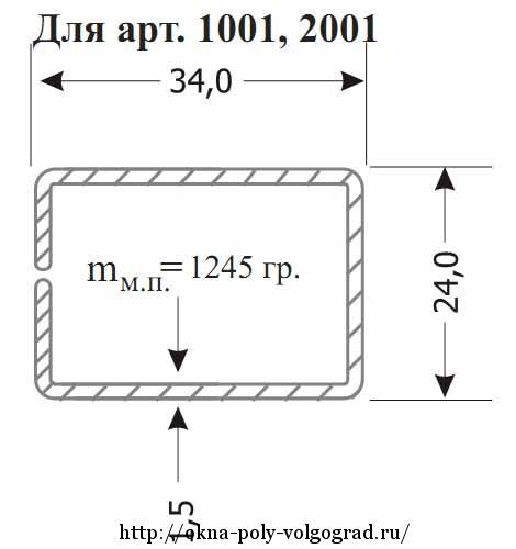 Армирование ПВХ профиля металлом замкнутого сечения.